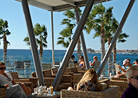 The Deck Restaurant by the local Paphos beach