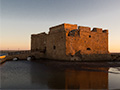 Paphos fort by sunset, Cyprus