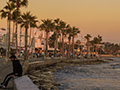 Paphos Promenade by Evening Light